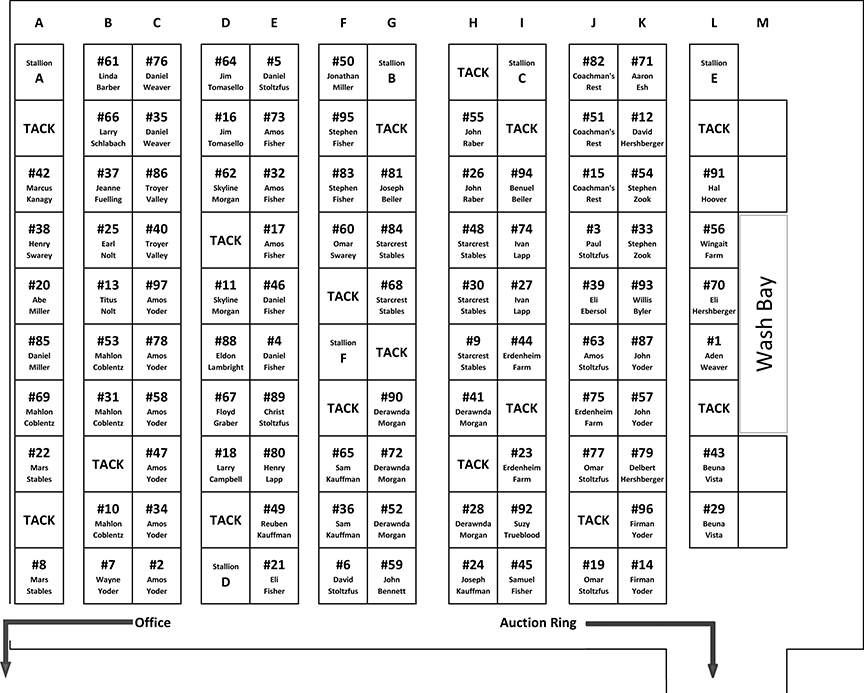 2016 Stall Layout